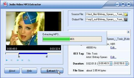 Free Video MP3 Extractor 1.12 - Audio-Extraktionswerkzeug