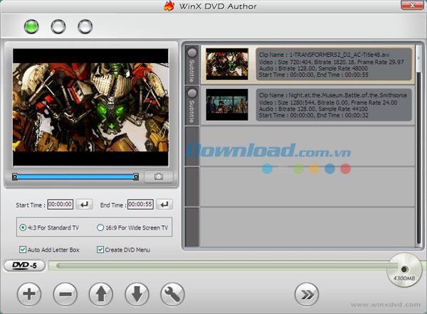 WinX DVD Author 6.3 - Einfaches Tool zum Brennen von DVDs