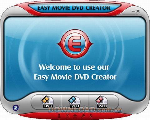 Easy Movie DVD Creator 1.8 - Unterstützt das Brennen von DVDs