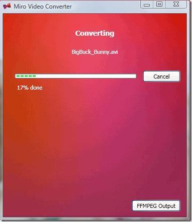 Miro Video Converter3.0-ビデオファイルを変換する