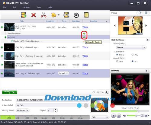 Xilisoft DVD Creator 7.0.1 - Ein Tool zum Erstellen und Brennen von DVDs