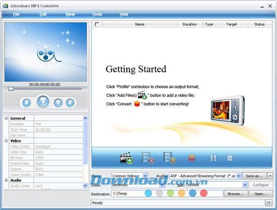 Joboshare MP4 Converter2.5-ビデオからMP4へのコンバーター