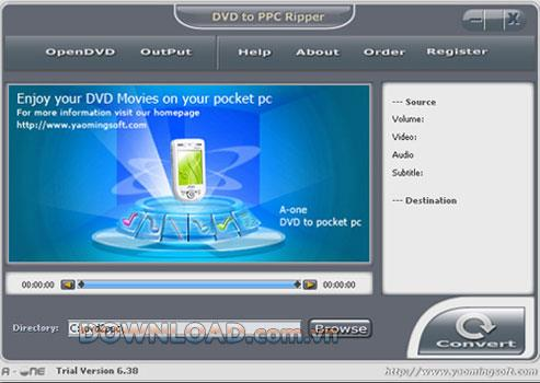 A-one DVD zu Pocket PC Ripper - Konvertieren Sie DVD zu Pocket PC