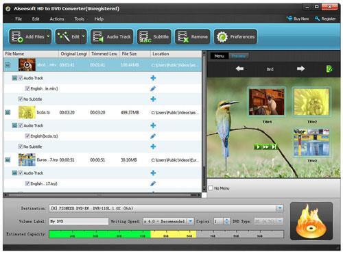 Aiseesoft HD to DVD Converter - Konvertiert HD-Videos in DVD