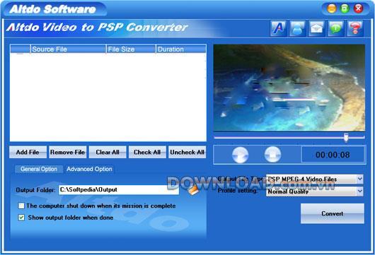 Altdo Video to PSP Converter - Konvertiert Videos in PSP