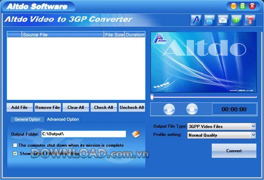 Altdo Video to 3GP Converter - Konvertiert Video in 3GP
