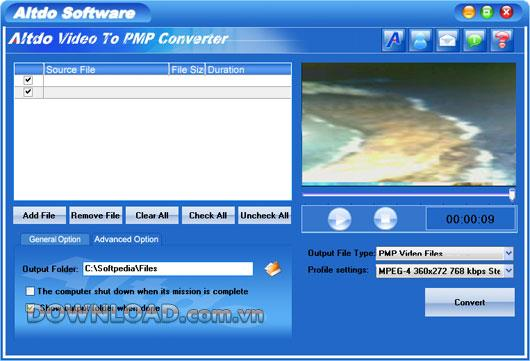 Altdo Video to PMP Converter - Konvertiert Video in PMP