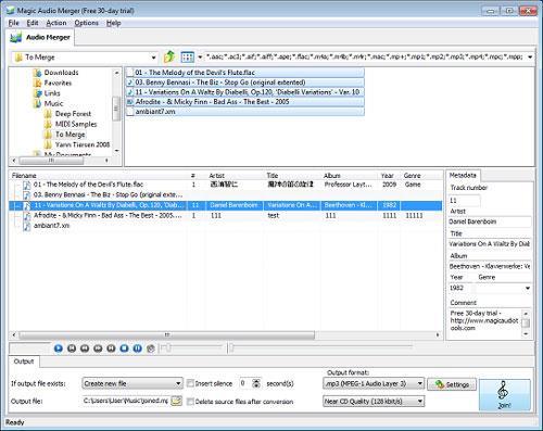 Magic Audio Merger - Zusammenführen von Audiospuren