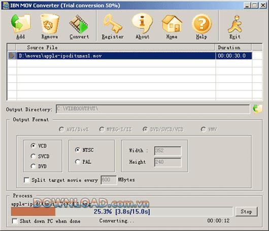 IBN MOV Converter - Leistungsstarker MOV Converter