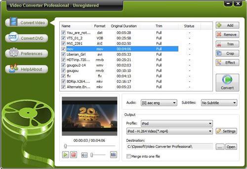 Oposoft Video Converter Professional