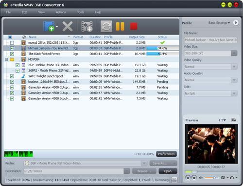 4Media WMV 3GP Konverter