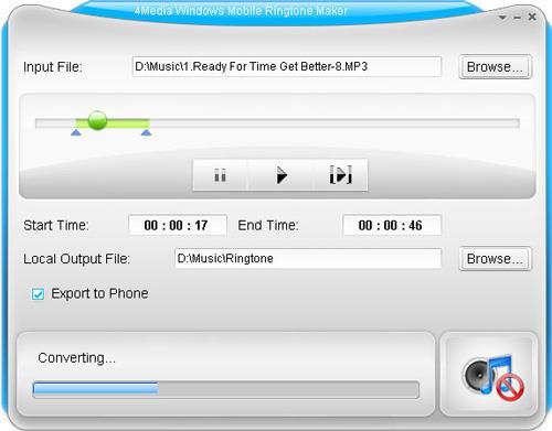 4Media Windows Mobile Ringtone Maker