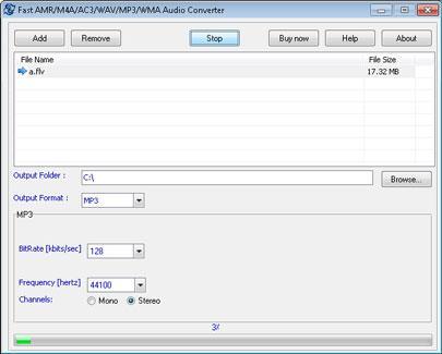Schneller AMR M4A AC3 WAV MP3 WMA Audiokonverter