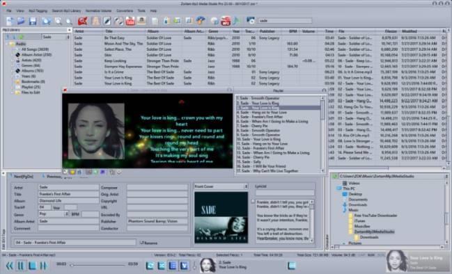 Zortam Mp3 Media Studio 27.20 - Kostenlose MP3-Konverter- und Verwaltungssoftware
