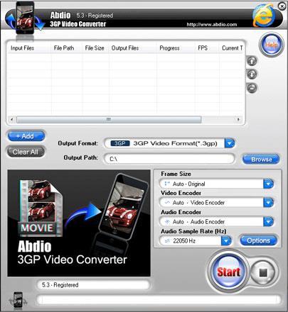 Abdio 3GP Videokonverter
