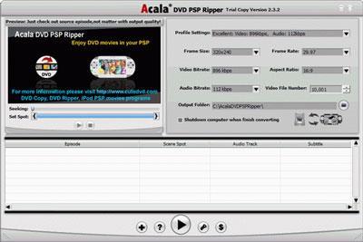 Acala DVD PSP Ripper
