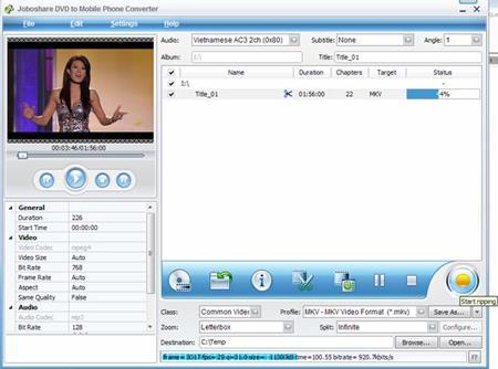 Joboshare DVD zu Handy Konverter