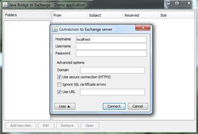 Java Bridge zu Exchange