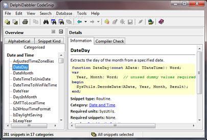 DelphiDabbler CodeSnip