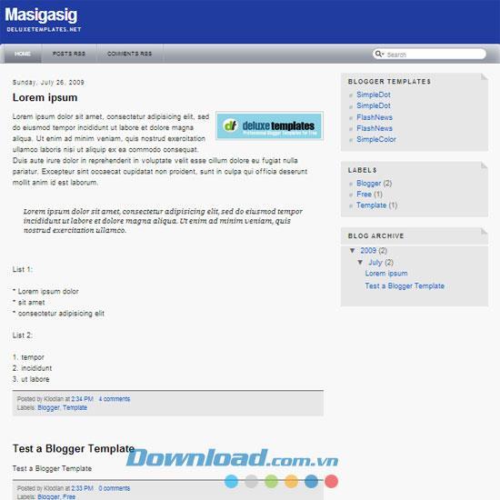 Masigasig - Fantastisches personalisiertes Thema der Blog-Vorlage