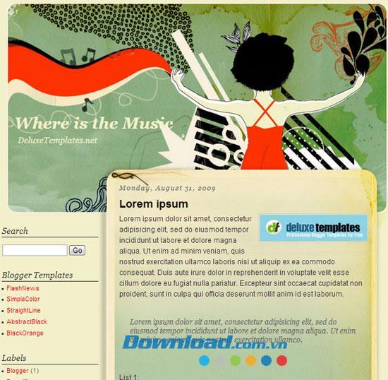 Wo ist das Musikthema Musik - Professionelle Blog-Vorlage?