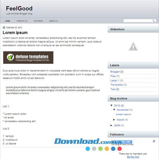 FeelGood - Kostenloser Blog über persönliche oder geschäftliche Themen