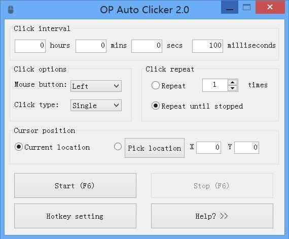 Auto-Clicker 2.1 - Stellen Sie die Maus automatisch ein