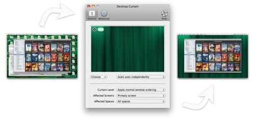 Desktop-Vorhang für Mac