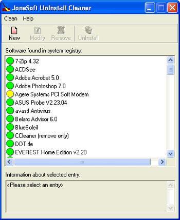 JoneSoft UnInstall Cleaner 1.1.0.15