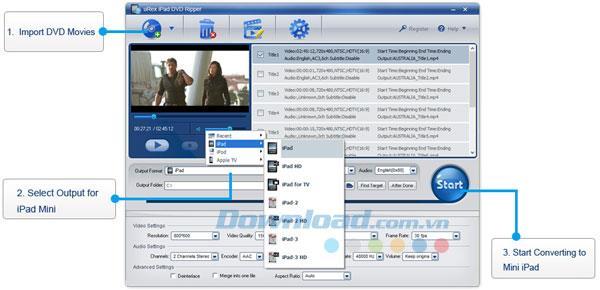 uRex iPad DVD Ripper 2.1 - Konvertieren Sie DVD in iPad