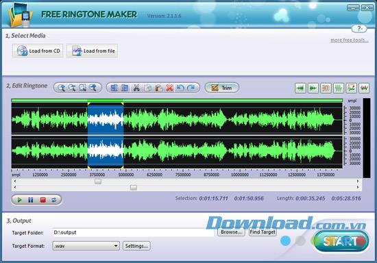 Free Ringtone Maker - Outil pour créer des sonneries gratuitement