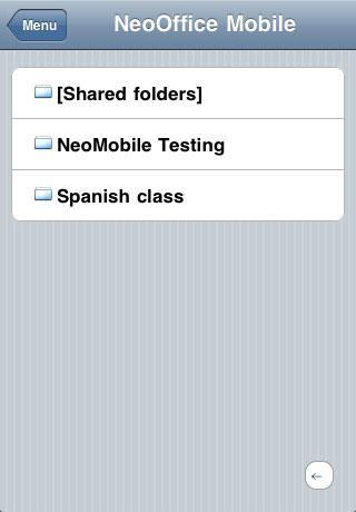 NeoOffice Mobile für iPhone
