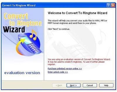 Convertir en Ringtone Wizard 1.13