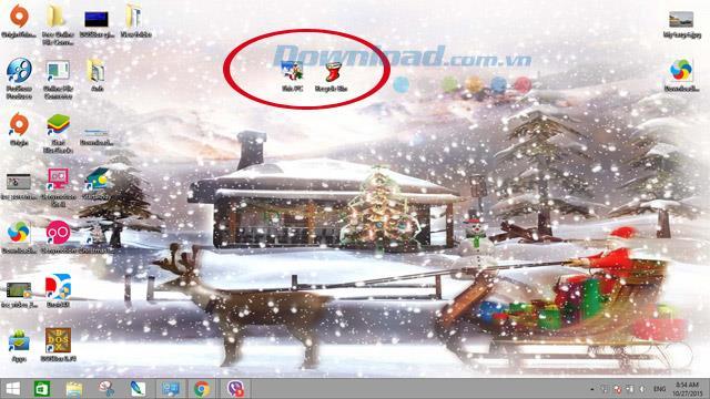 Thème de Noël Microsoft - Thème de Noël unique