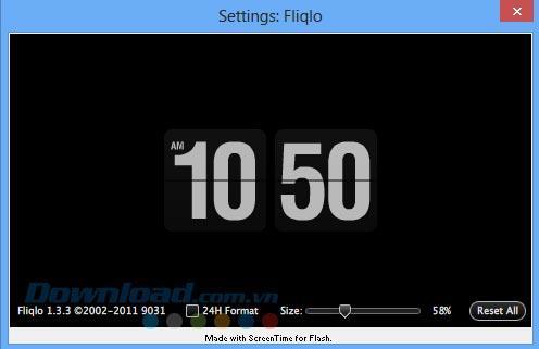 Fliqlo 1.3.3 - Luxusuhr auf Displayschutzfolie