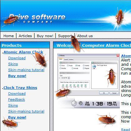 Kakerlake auf dem Desktop