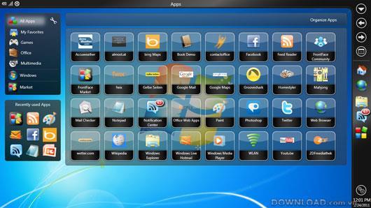 FrontFace für Netbooks & Tablets