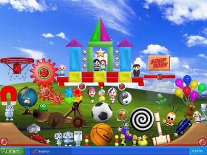 SkyCar 3D Desktop Toy 1.0 - Animierte Bildschirmoberfläche