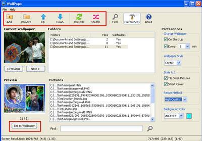 WallPapa 1.0.4.2 - Changer automatiquement le fond d'écran