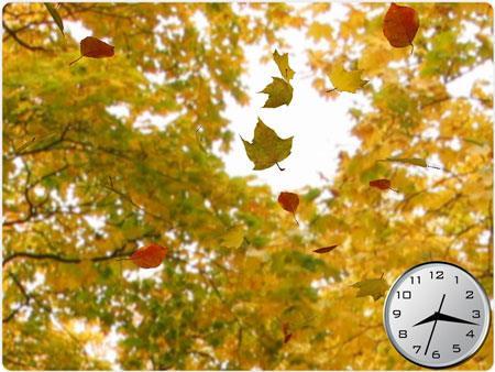 Écran de veille 3D Golden Leaves