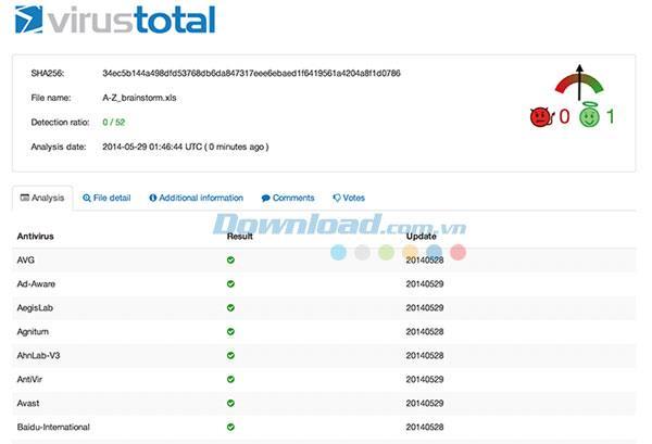 VirusTotal für Mac 1.3 - Virenscanner für Mac