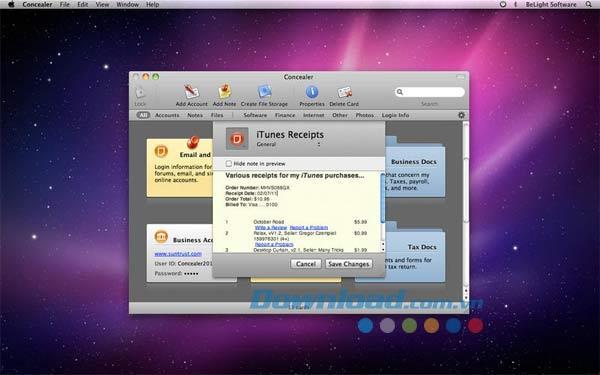 Concealer für Mac 1.2 - Sichern Sie wichtige Informationen auf dem Mac
