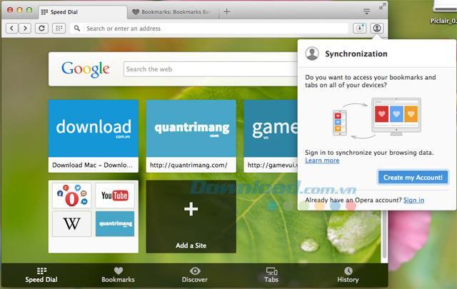 Opera für Mac 73.0.3856.329 - Webbrowser für Mac