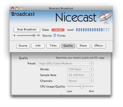 Nicecast für Mac 1.10.8 - Software zum Konvertieren von Audiodateien