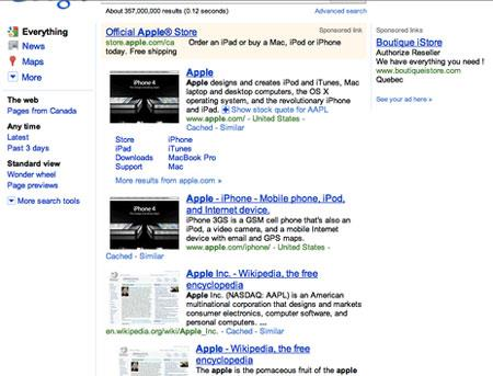 Suchvorschau für Mac