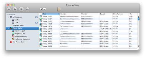 Fritz Mac Suite für Mac 1.3.1 - Ein Tool zum Senden von Faxen von Apple Macintosh