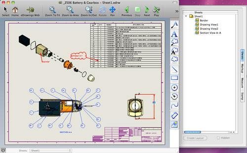 eDrawings Viewer für Mac 14.3.0.107 - Software zum Anzeigen von DWG-Dateien