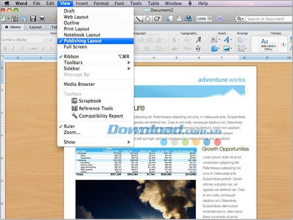 Microsoft Word 2011 für Mac 14.7.7 - Textbearbeitungssoftware für Mac