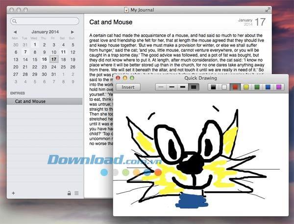 Mémoires für Mac 4.0 - Journal auf Mac