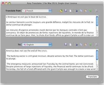 Easy Translator für Mac 8.5 - Übersetzungstool